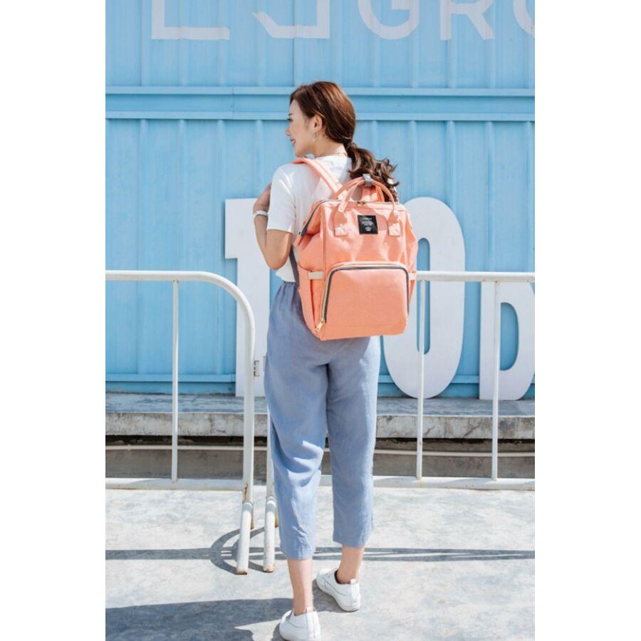 Женские рюкзаки - Рюкзак сумка для ухода за ребенком, LEQUEEN серый 0969