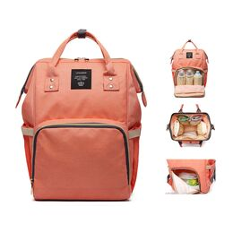 Рюкзак сумка для ухода за ребенком, LEQUEEN розовый 0970