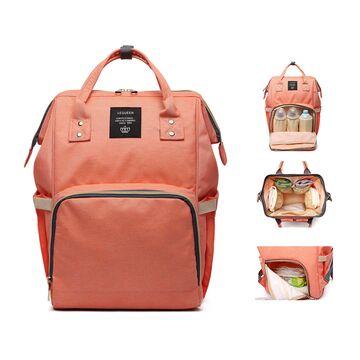 Рюкзак сумка для ухода за ребенком, LEQUEEN розовый П0970