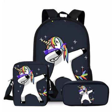 """Детские рюкзаки - Детский комплект (рюкзак, сумка, карандаш) """"Единорог"""" П0976"""