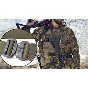 Мужской армейский ремень FRALU, черный П0979