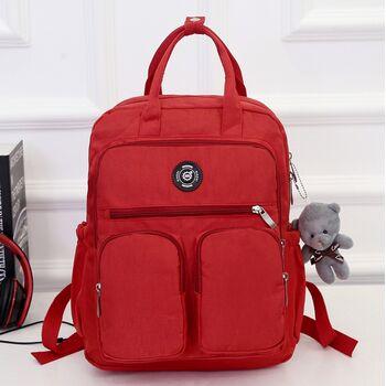 Женский рюкзак, красный 0980