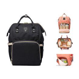 Рюкзак сумка для ухода за ребенком, LEQUEEN черный 0982