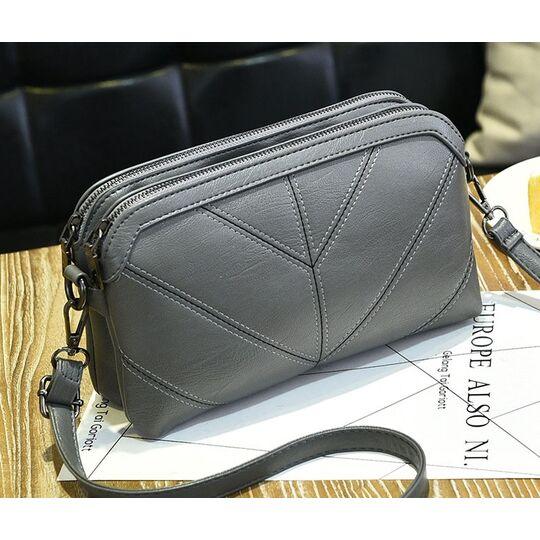 Женские сумки - Женская сумка SMOOZA, серая П1000