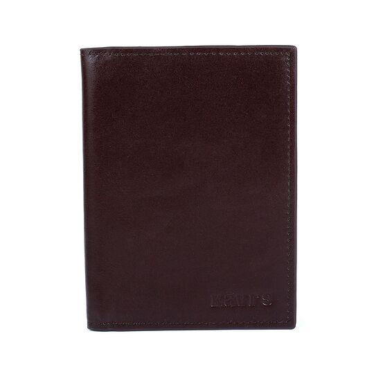 Обложка для паспорта, визитница KAVIS коричневая П1009