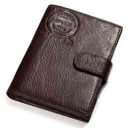 Мужской кошелек KAVIS, коричневый 1013