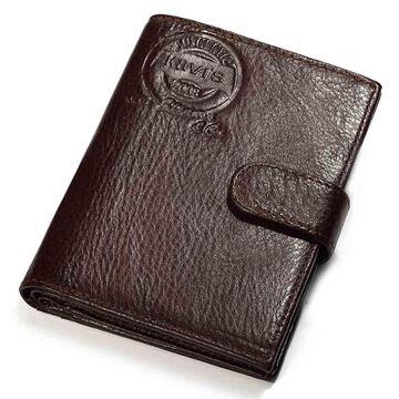 Мужской кошелек KAVIS, коричневый П1013