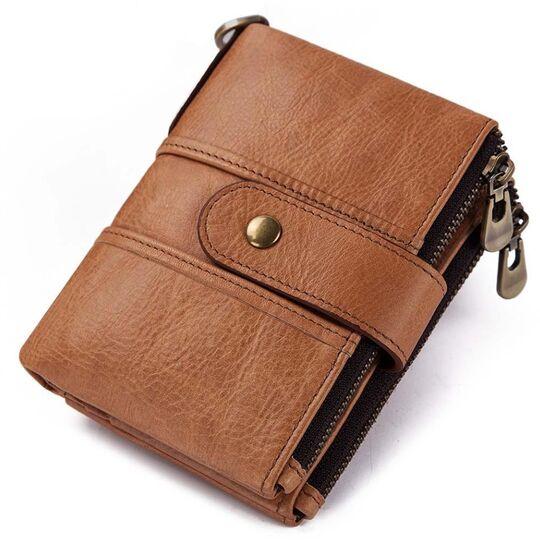 Мужские кошельки - Мужской кошелек KAVIS, коричневый П1016