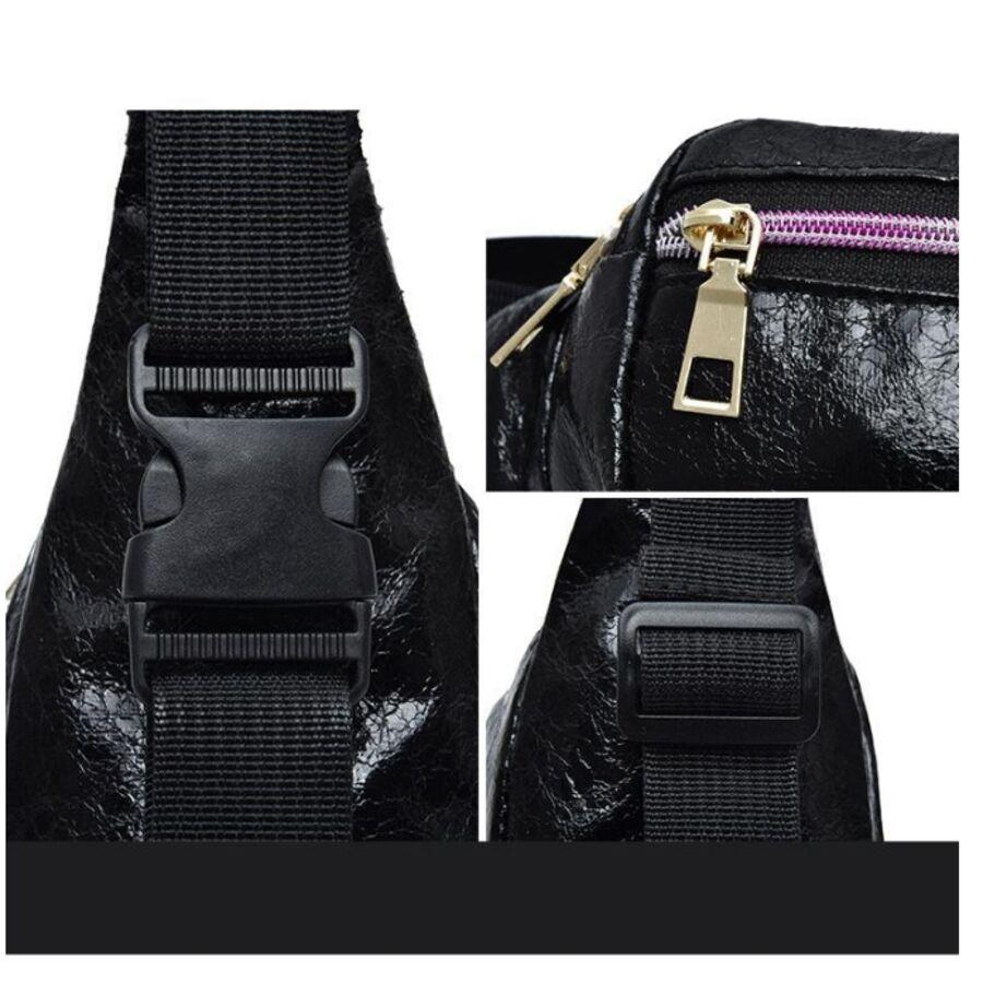 Поясные сумки - Сумка поясная, бананка черная 1024