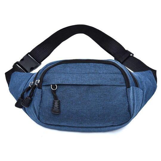 Поясные сумки - Сумка поясная, бананка синяя П1030