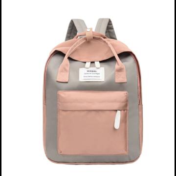 Женский рюкзак, серый П1038