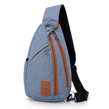 Мужская сумка слинг DINGXINYIZU синяя 1041