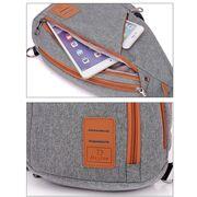 Мужские сумки - Мужская сумка слинг DINGXINYIZU синяя П1041