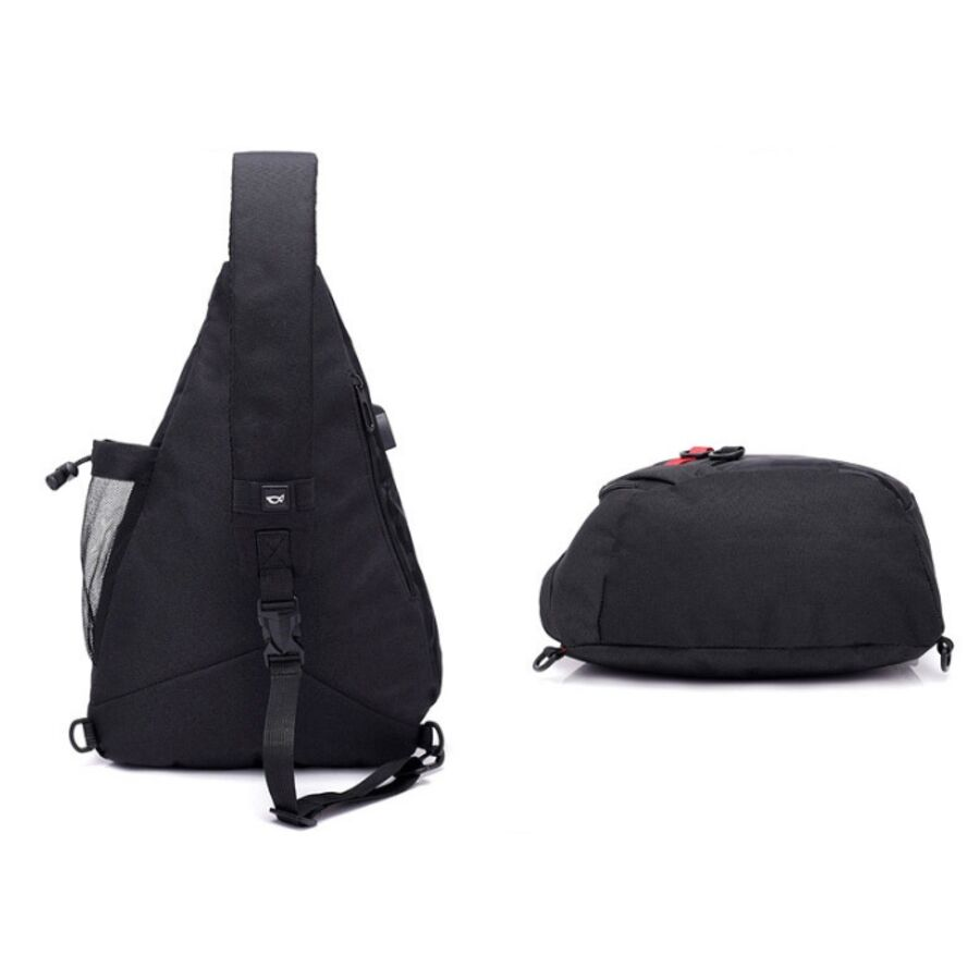 Мужские сумки - Мужская сумка слинг DINGXINYIZU серая 1042