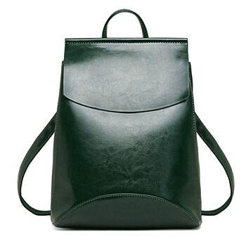 Женский рюкзак, зеленый 0006