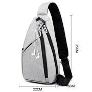 Мужская сумка слинг DINGXINYIZU серая П1045