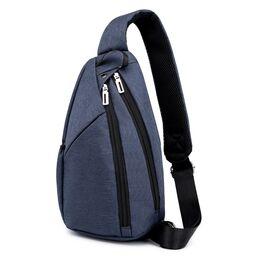Мужская сумка слинг DINGXINYIZU синяя 1046