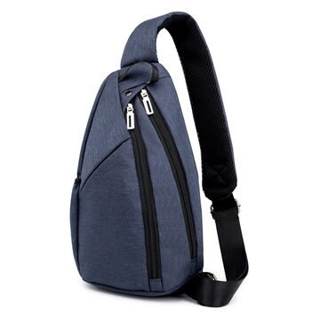 Мужская сумка слинг DINGXINYIZU синяя П1046