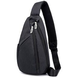 Мужская сумка слинг DINGXINYIZU черная 1047