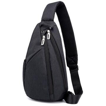 Мужская сумка слинг DINGXINYIZU черная П1047