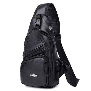 Мужская сумка слинг DINGXINYIZU, черная 1050