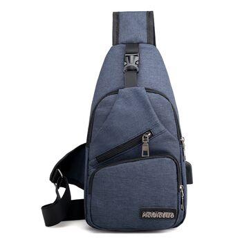 Мужская сумка слинг DINGXINYIZU синяя 1051