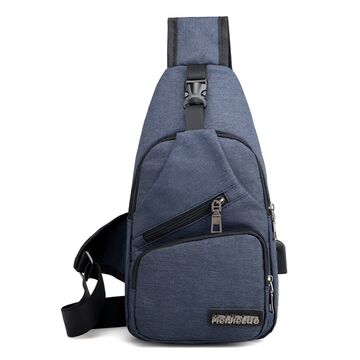 Мужская сумка слинг DINGXINYIZU синяя П1051
