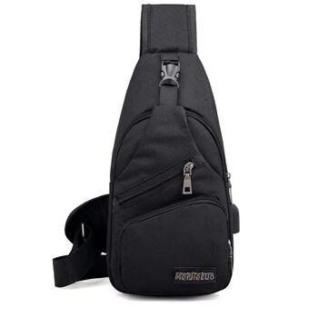 Мужская сумка слинг DINGXINYIZU черная П1052