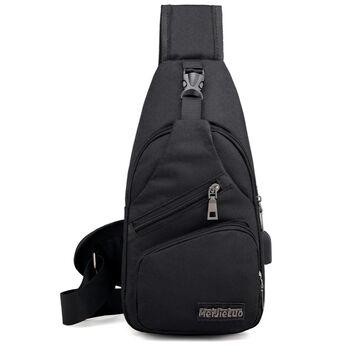 Мужская сумка слинг, черная П1052