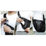 Мужские сумки - Мужская сумка слинг ARCTIC HUNTER, черная П1054