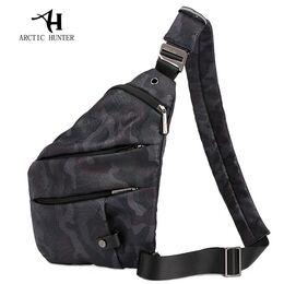 Мужская сумка слинг ARCTIC HUNTER, черная 1055