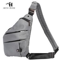 Мужская сумка слинг ARCTIC HUNTER, серая 1056