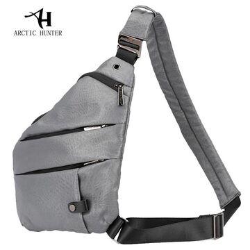 Мужская сумка слинг ARCTIC HUNTER, серая П1056