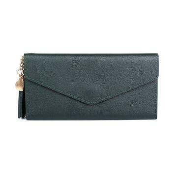 Женский кошелек, зеленый П1079