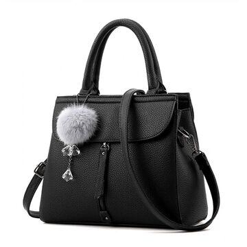 Женская сумка Saffiano, черная П1084