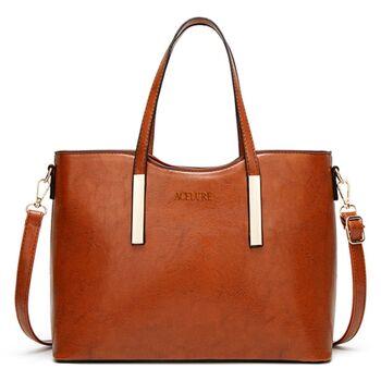 Женская сумка ACELURE, коричневая 1124