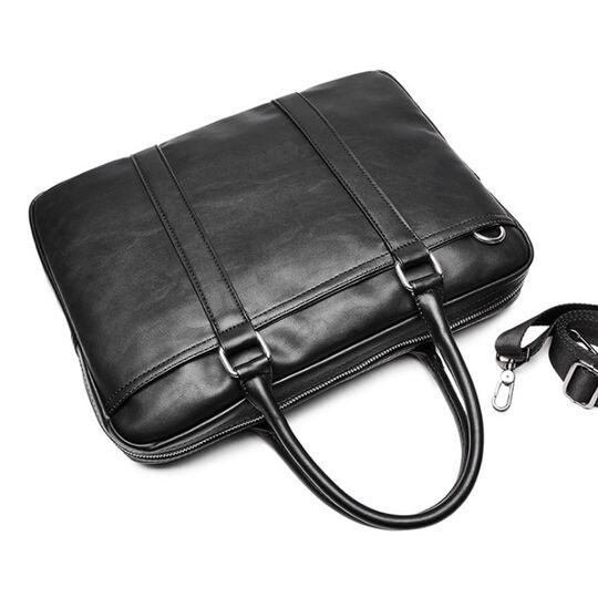 Мужская сумка портфель VORMOR для ноутбука, черная П1143