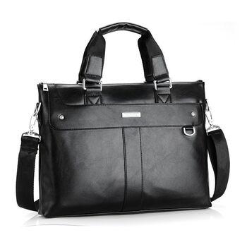 Мужская сумка портфель VORMOR для ноутбука, черная 1145