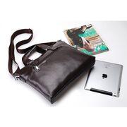 Мужские сумки - Мужская сумка портфель VORMOR для ноутбука, черная П1145