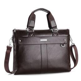 Мужская сумка портфель VORMOR для ноутбука, коричневая 1146