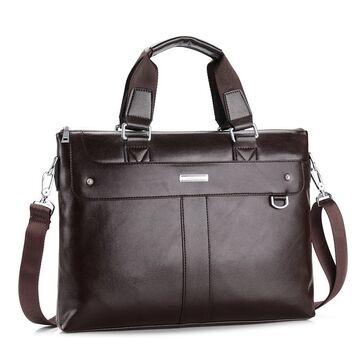 Мужская сумка портфель VORMOR для ноутбука, коричневая П1146