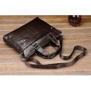 Мужские сумки - Мужская сумка портфель VORMOR для ноутбука, коричневая П1146