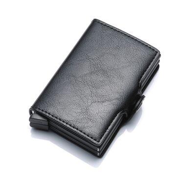 Визитница RFID, черная П1150