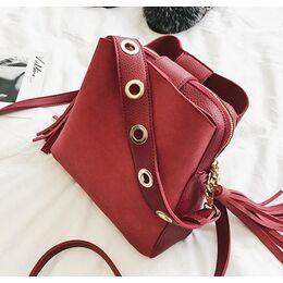 Женская сумка, красная 1156