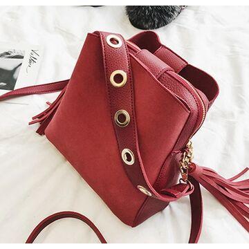 Женская сумка, красная П1156