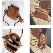 Женская сумка, коричневая П1157