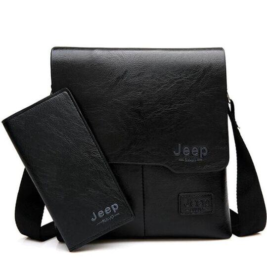 Мужские сумки - Мужская сумка JEEP BULUO, черная П0015