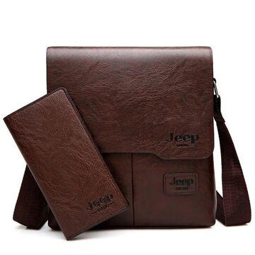 Мужская сумка JEEP BULUO, коричневая П0016