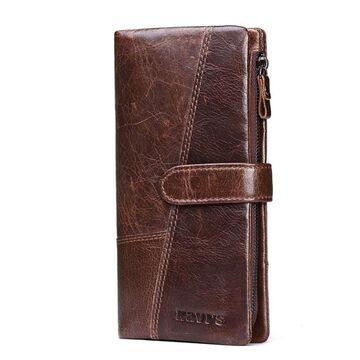 Мужские кошельки - Мужской кошелек KAVI'S, коричневый П1181