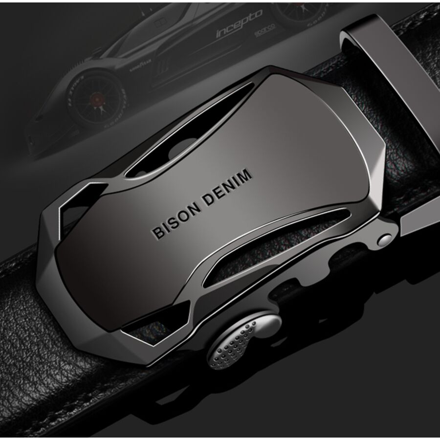 Мужские ремни и пояса - Мужской ремень BISON DENIM, черный 0017
